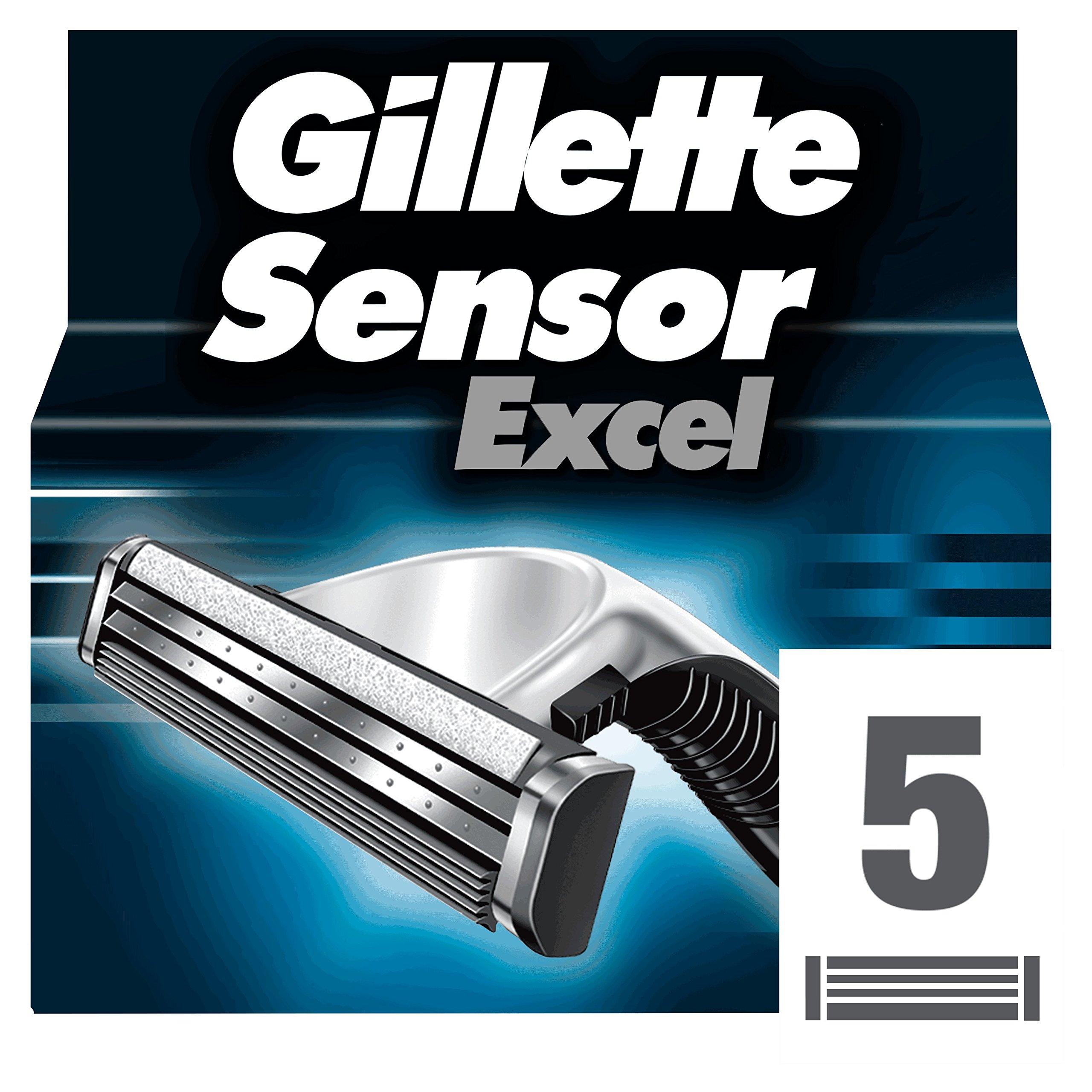 Gillette Sensor Excel - Hojas de afeitar para recambio, paquete con 5 unidades product image