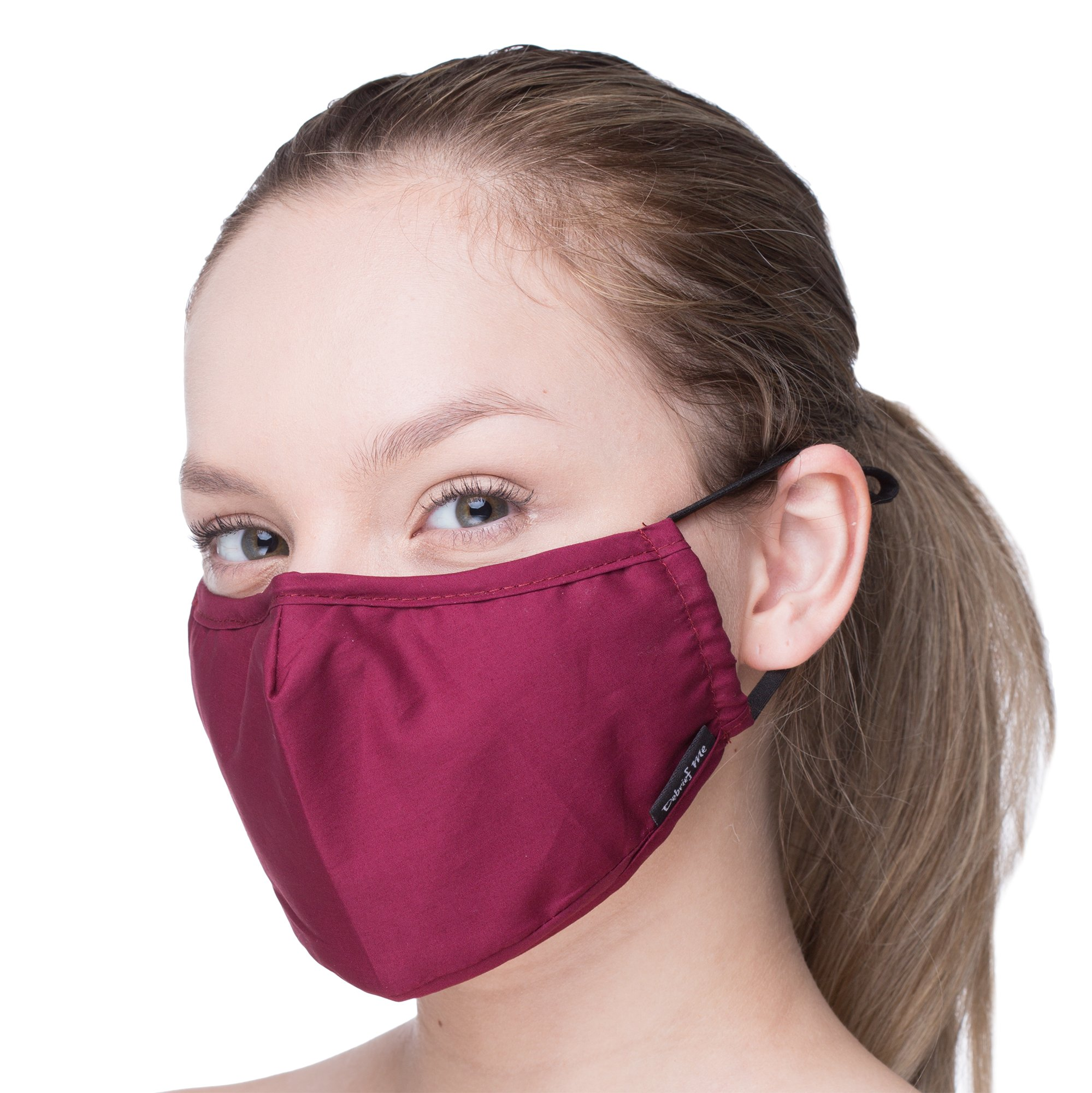 Anti Dust Face Mouth Cover Mask Respirator - Dustproof Anti-bacterial Washable - Reusable masks Respirator Comfy - Cotton Germ Protective Breath Healthy Safety Warm Windproof Mask (Burgundy Red)