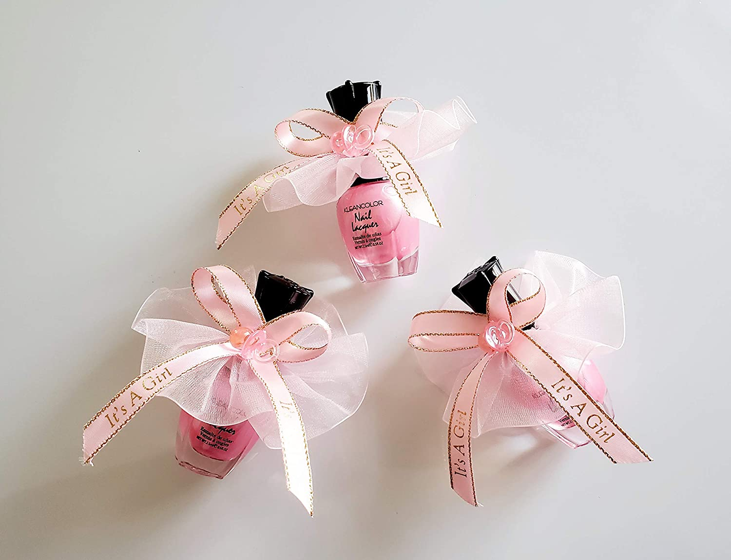 Its A Girl Pink Pens with Changing Phrases Set of 12 Pieces Baby Party Favors