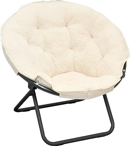 Pleasing Urban Shop Sherpa Saucer Chair Ivory Alphanode Cool Chair Designs And Ideas Alphanodeonline