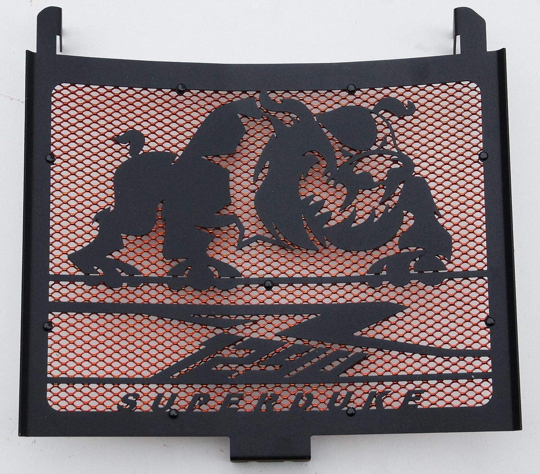 Gitter orange Heizk/örperabdeckung//K/ühlergrill 1290 R Superduke 2014//2016 schwarz satiniert Bulldogge