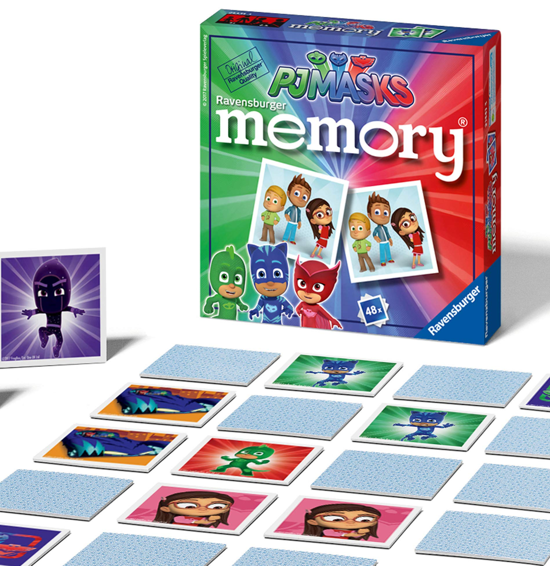 Ravensburger PJ Masks Mini Memory Game - Matching Picture Snap Pairs Game For Kids Age 3 Years and Up