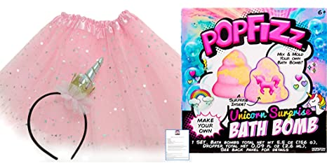 Amazon Com Unicorn Bath Bomb Kit For Kids And Unicorn Horn Headband