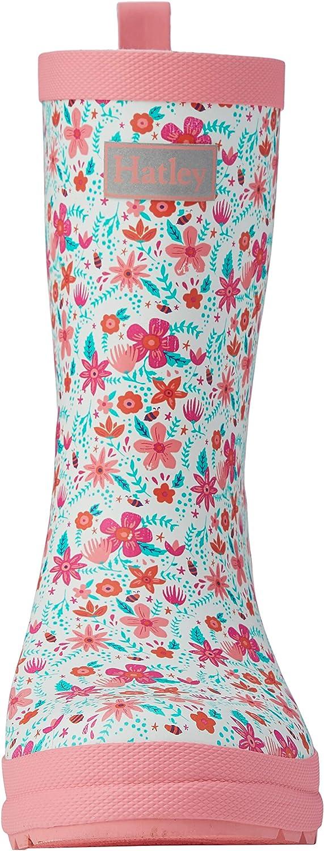 Blanc Hatley Printed Wellington Rain Boots 27 EU Summer Garden 100 Bottes /& Bottines de Pluie Fille