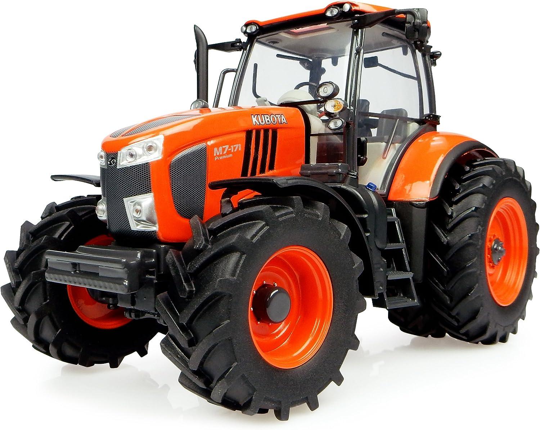 Universal Hobbies Tractor Kubota M7171con Ruedas jumelã © es Version Estadounidense (Escala 1/32Naranja