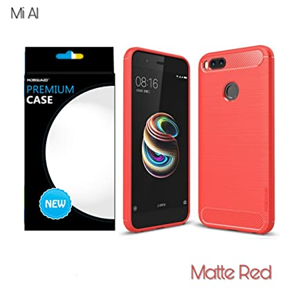 huge discount 5e64c e489f MobGuard ™ Xiaomi Mi A1 Original Back Cover Premium Case , Ultimate  Protection scratch Proof Soft Carbon fiber Back Cover Case For Mi A1 (5.5)  ( Red ...