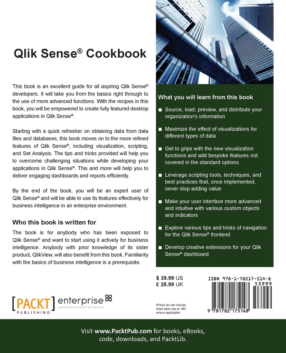 Amazon com: Qlik® Sense Cookbook (9781782175148): Philip