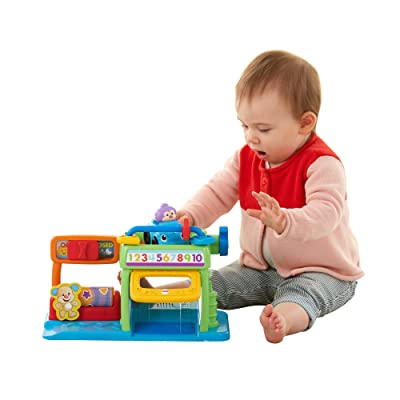 Fisher-Price Laugh & Learn Puppy's Numbers Garage: Toys & Games