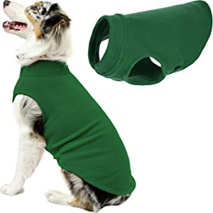 Gooby Stretch Fleece Dog Vest - Pullover Fleece Dog Sweater - Warm Dog Jacket Winter Dog Clothes Sweater Vest - Dog Sweaters for Small Dogs to Large Dogs for Indoor and Outdoor Use