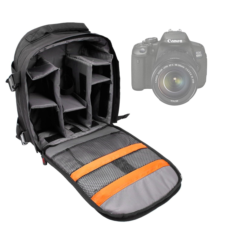 DURAGADGET Sac en toile avec compartiments de rangement pour appareils photos SLR Canon EOS 650D et EOS 6D, Canon EOS 5D Mk II/Mk III - matiè re ré sistante couleur sable Canon EOS 5D Mk II/Mk III - matière résistante couleur sable