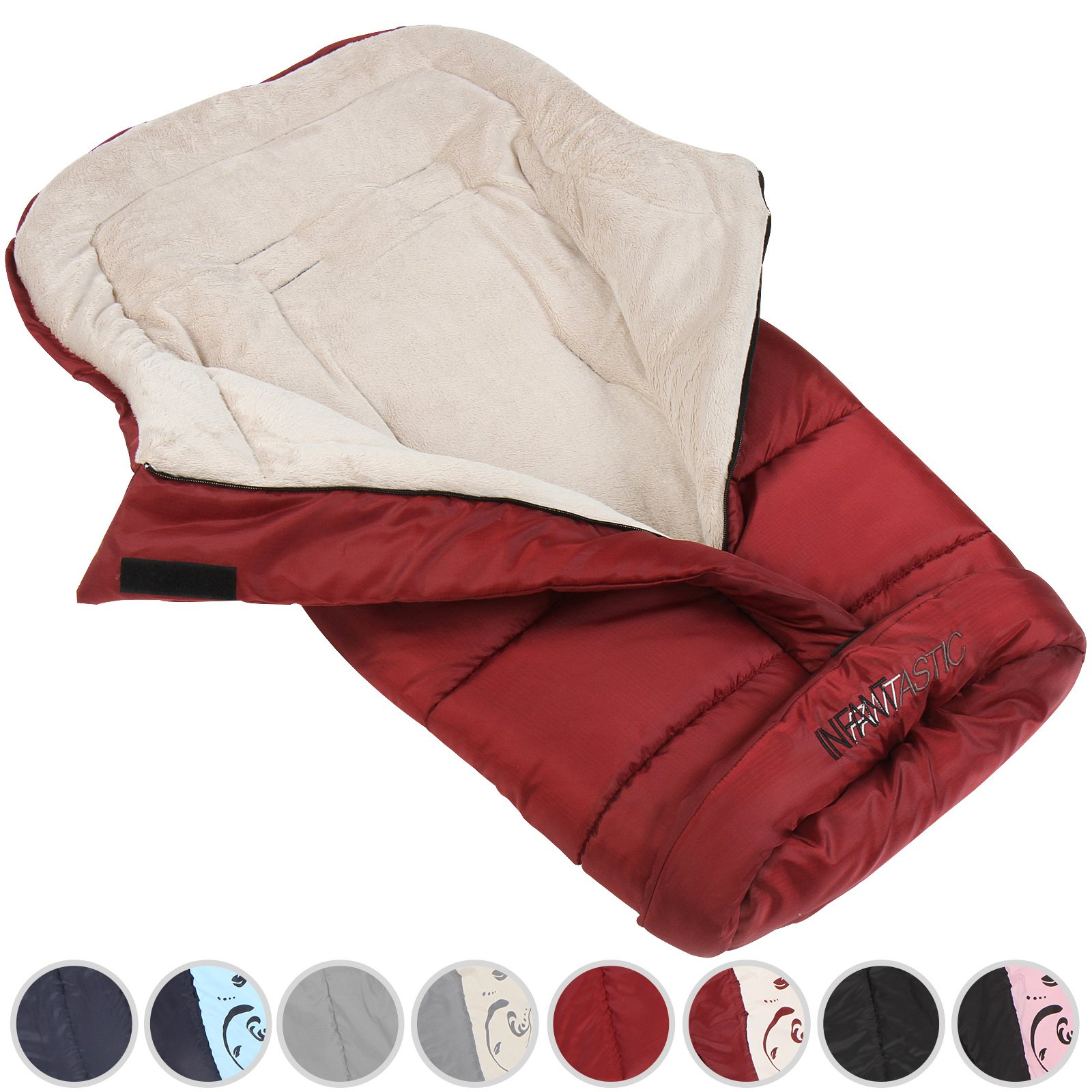 Choice of Color : ca./120//50 cm Closed Baby Swaddle Blanket Stroller Wrap l//w : ca l//w 135//110 cm Sleeping Bags Opened Fleece-Winter Footmuff
