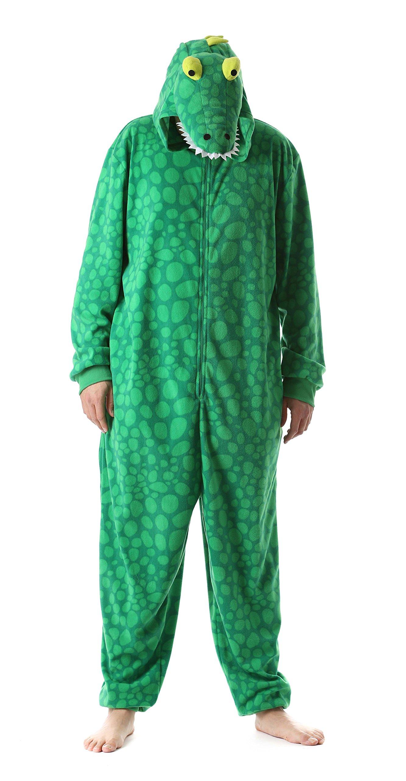 Just Love 6347-L Men's Adult Onesie Mens Pajamas, Gator, Large