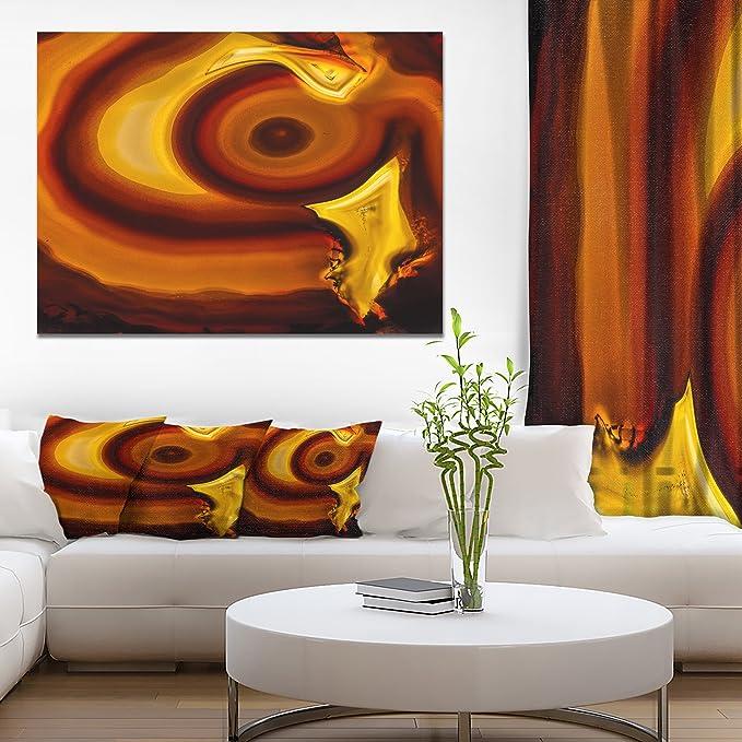 Design Art Agate Geode Slice Macro Abstract Canvas Wall Art Print 20x12 Amazon Co Uk Kitchen Home
