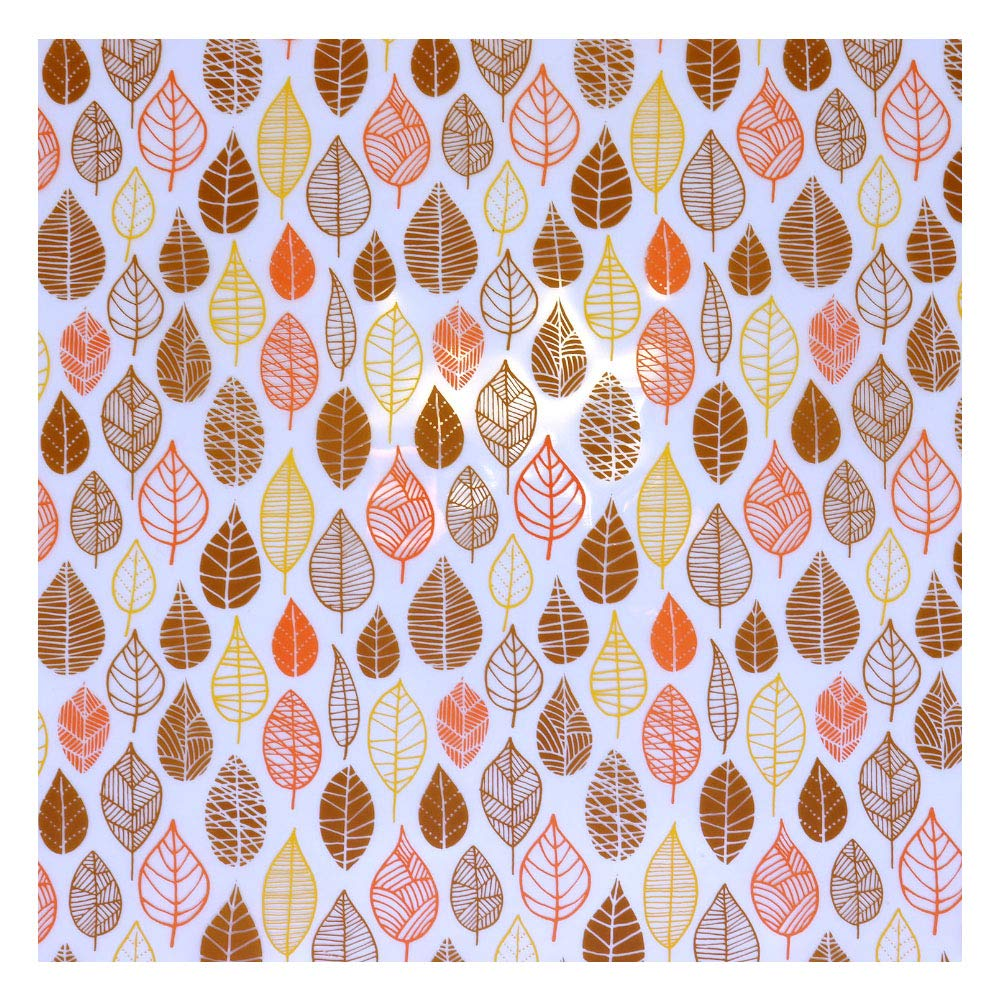 Chocolate Transfer Sheet, Modern Leaves, 17 Sheets