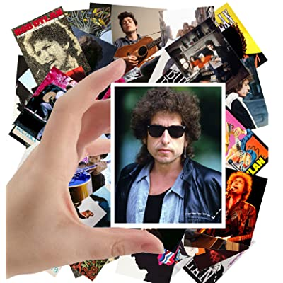 "Large Stickers (24pcs 2.5""x3.5"") BOB DYLAN Rock Music Posters Photos Vintage Magazine covers: Toys & Games"