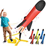Toy Rocket Launcher for kids – Shoots Up to 100 Feet – 8 Colorful Foam Rockets and Sturdy Launcher Stand With Foot…