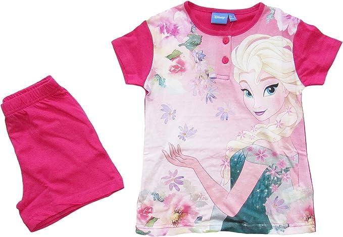 Disney Pigiama Bambina Estivo Elsa Frozen 46320 a Maniche Corte in 100/% Cotone