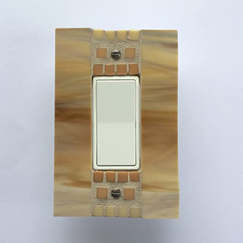 Amazoncom Decora Light Switch Cover Gold Stained Glass