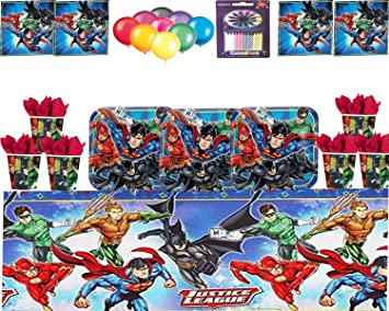 DC Comics Justice League gobelets en papier 266 ml-Lot de 8 Party Tableware