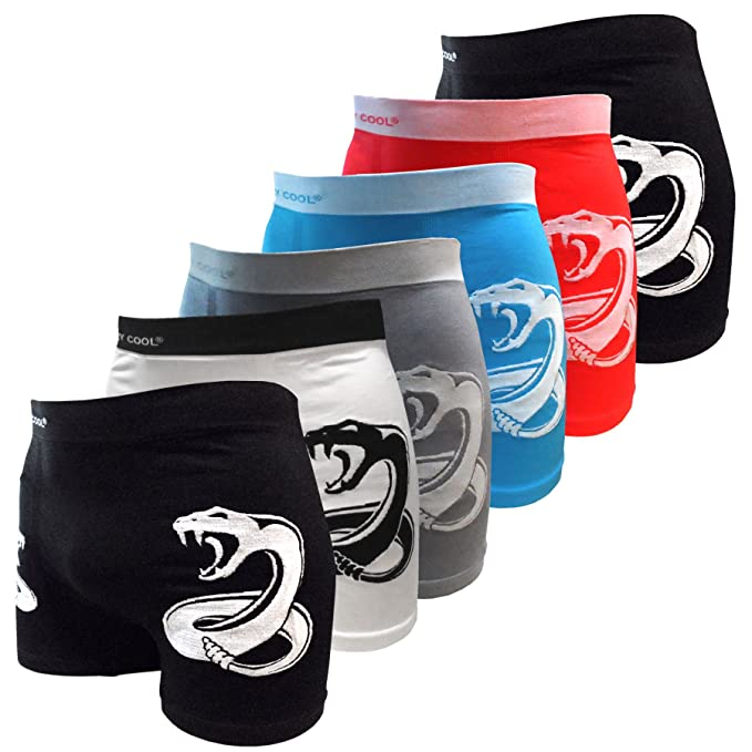 8ddffa58a9f5 Image Unavailable. Image not available for. Color: Crazy Cool Men's Vipor  Snakes Seamless Boxer Briefs Underwear 6-Pcs ...