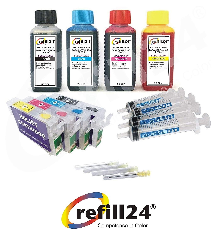 Kit de Recarga, Compatible para Cartuchos de Tinta Epson T2711-14 ...