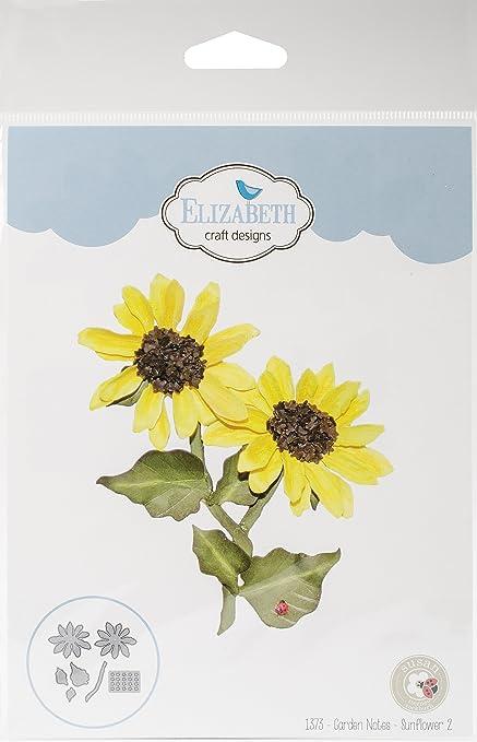 Elizabeth Craft Designs 1373 Metal Die Garden Notes Sunflower 2