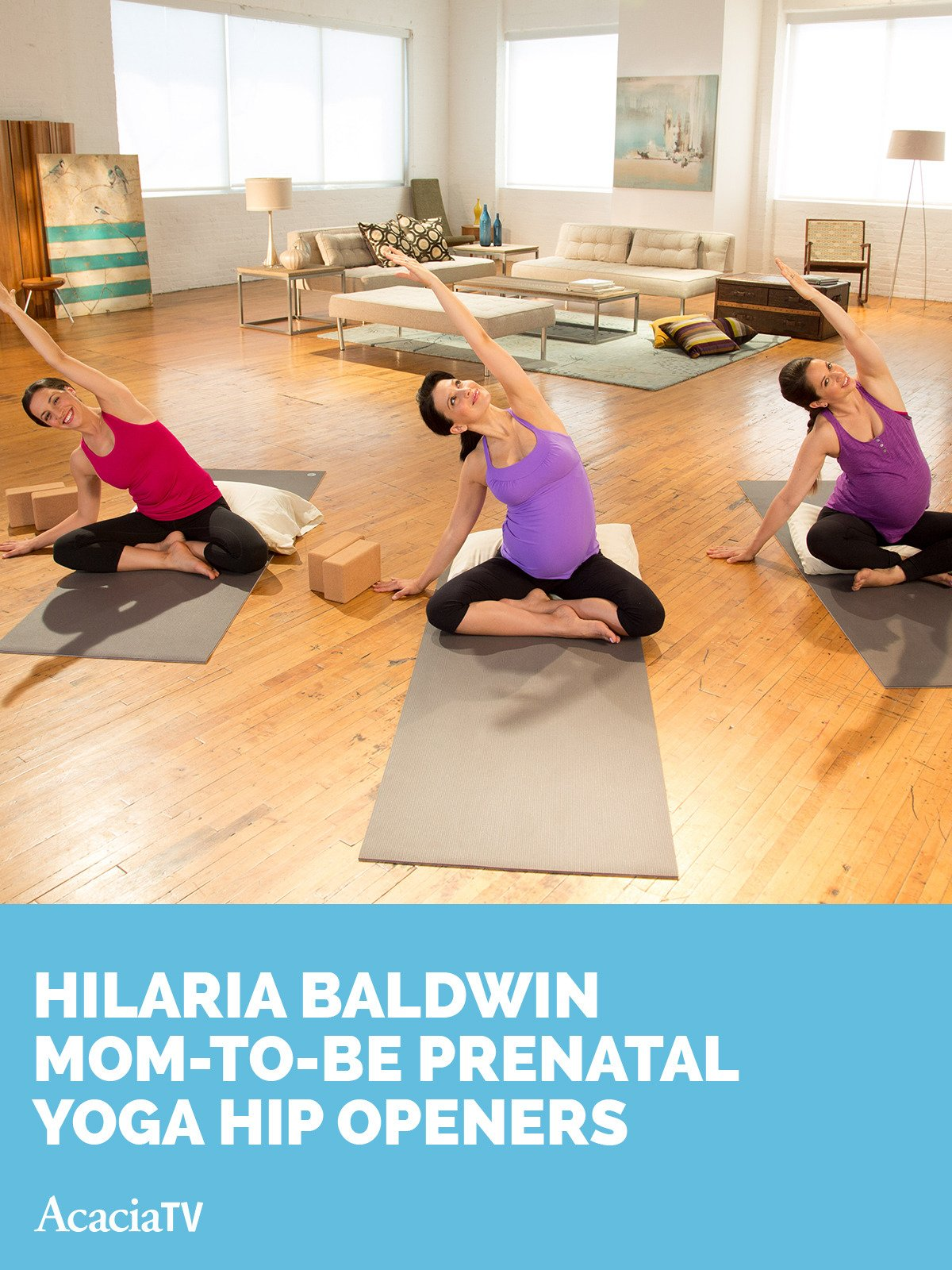 Watch Hilaria Baldwin Mom-to-be Prenatal Yoga De-stress ...