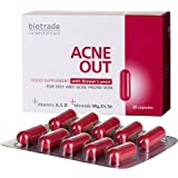 Acne Out™ Acne Pills, Food Supplement, Fighting Spots and Blemishes, for Acne Prone Skin, Balanced Formula with Brewer's East, Vit.D3, Vitamin A, Magnesium, Zinc and Selenium by Biotrade