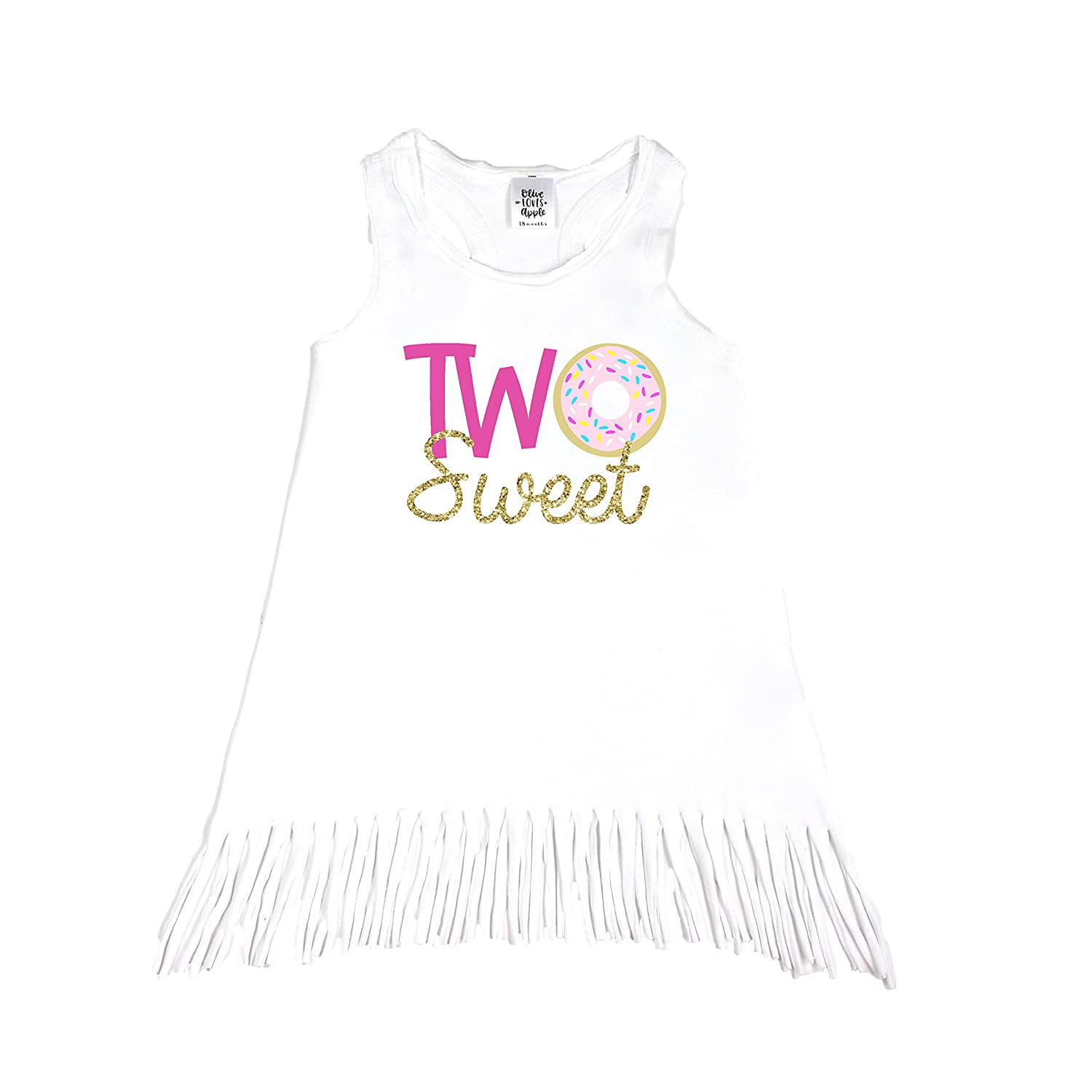 Amazon Olive Loves Apple Girls 2nd Birthday Shirt Two Sweet Donut Outfit For Toddler Clothing
