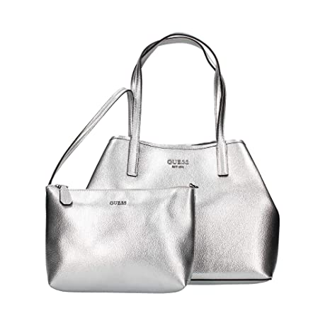 Guess, Borsa a mano donna argento argento: Amazon.it: Scarpe