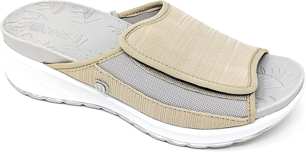 b1a1e8b09214 Amazon.com  BZees by Naturalizer Women s Galaxy Slide Sandal Taupe ...