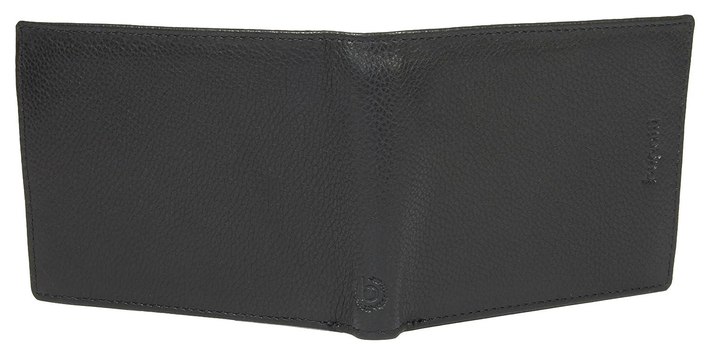 format horizontal pour hommes Bugatti Portefeuille cuir v/éritable marron de qualit/é sup/érieure