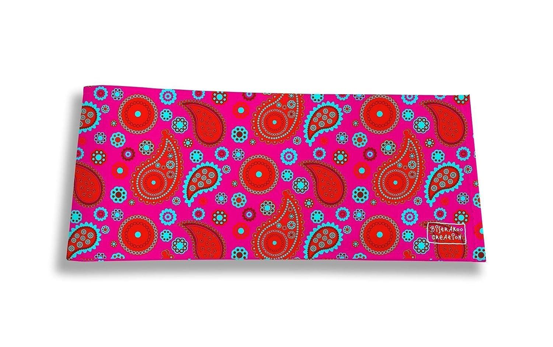 Porte-ch/équier long horizontal /à rabats pour femme 2002 Porte-ch/équier correspondance femme Motif Cachemire rouge et bleu r/éf