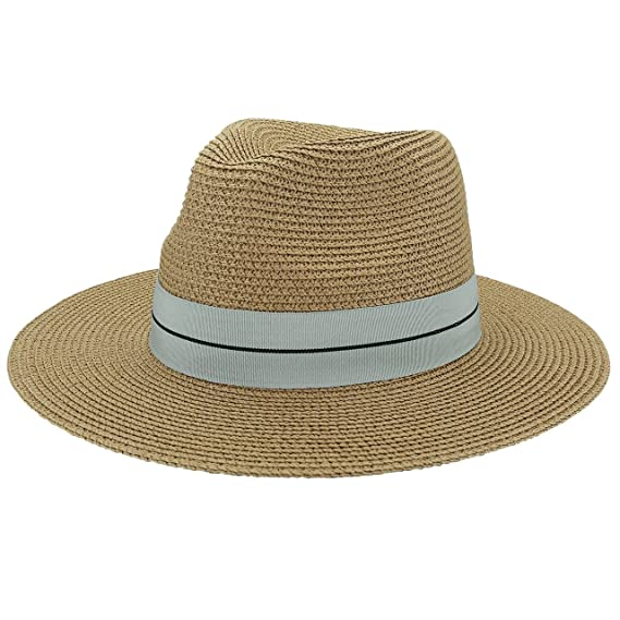 Summer Men and Women Short Brim Panama Straw Fedora Hat Trilby Hats