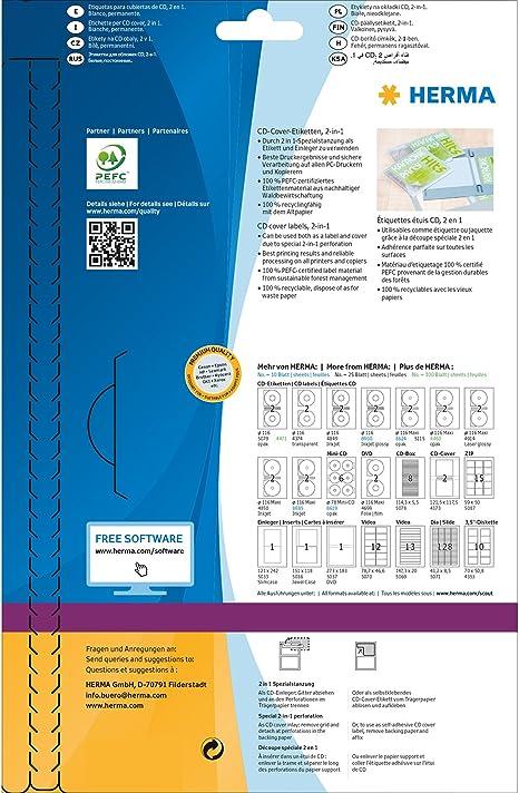 Herma 4691 /Étiquettes plastique 66 x 33,8 A4 LaserCopy Blanc