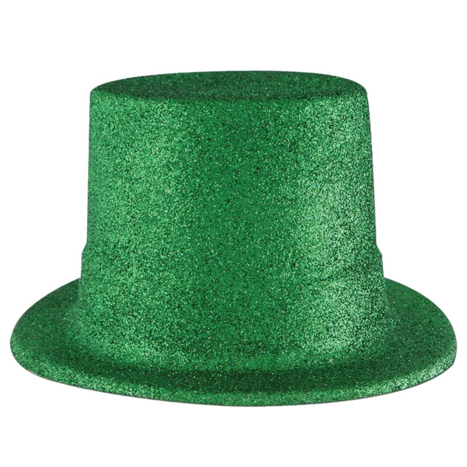 Pack of 24 Green Glittered St. Patrick's Day Top Hat Costume Accessories by Party Central