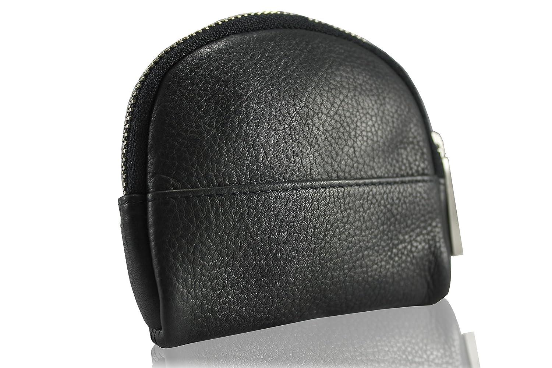 FERETI Monedero piel cartera Negro billetera plata antigua: Amazon.es: Equipaje
