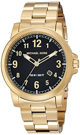 d92e1e56889f Amazon.com  Michael Kors Men s Paxton Gold-Tone Watch MK8555 ...