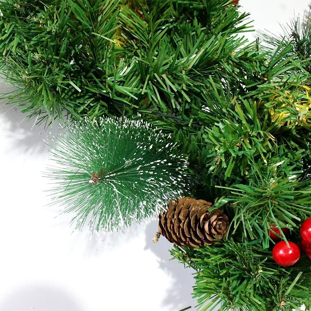 Fashionikon Corona de Navidad preiluminada con 20 Luces LED ...