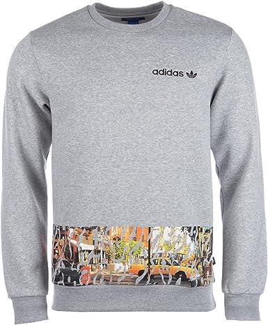 Sweat col rond adidas Originals City Crew pour homme en gris