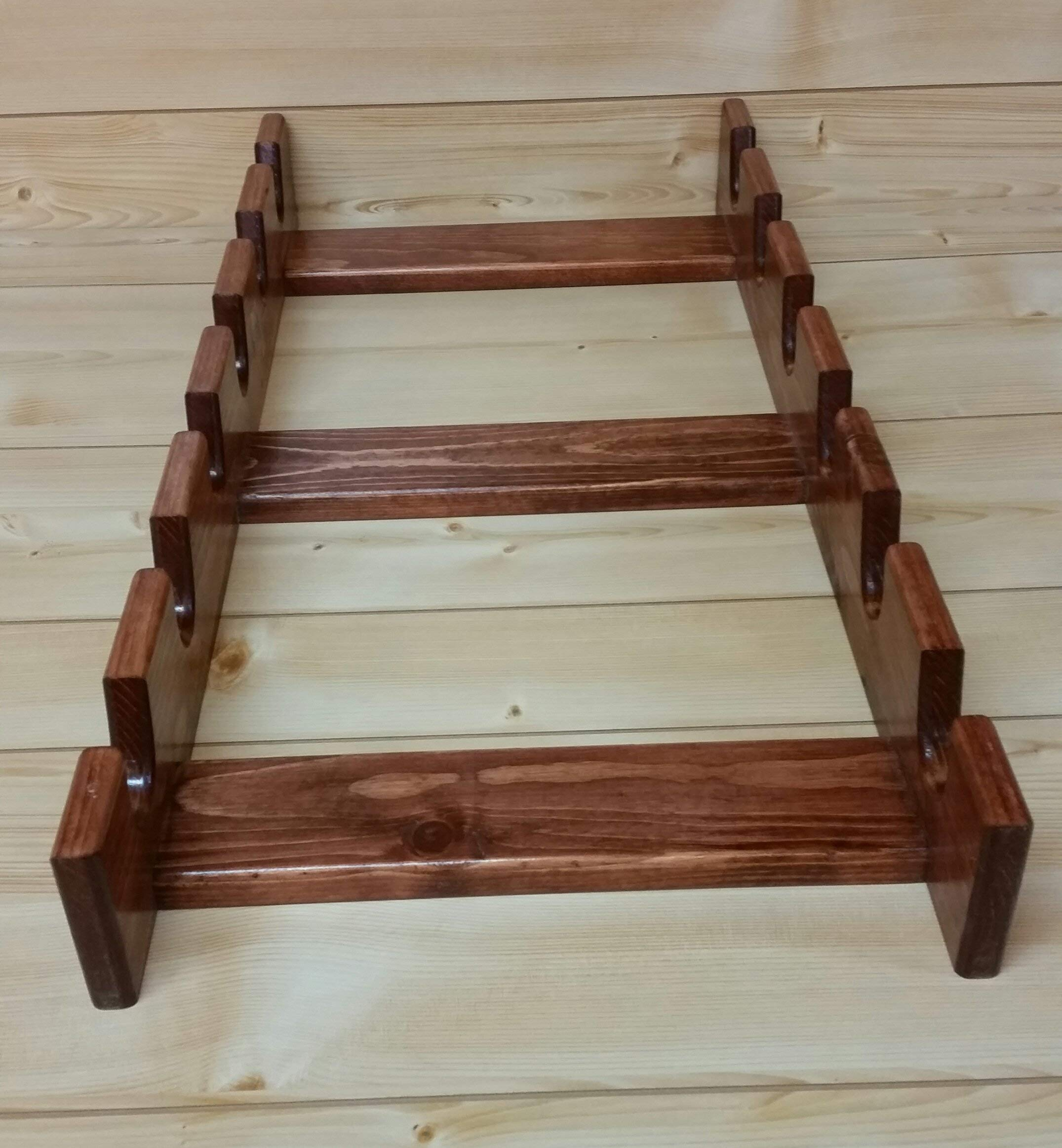 Rolling Pin Rack with Six Slots - Multiple Rolling Pin Rack - Rolling Pin Holder - Rolling Pin Storage - Rolling Pin Rack for 6 by Rusty Nail Custom Woodworking (Image #8)