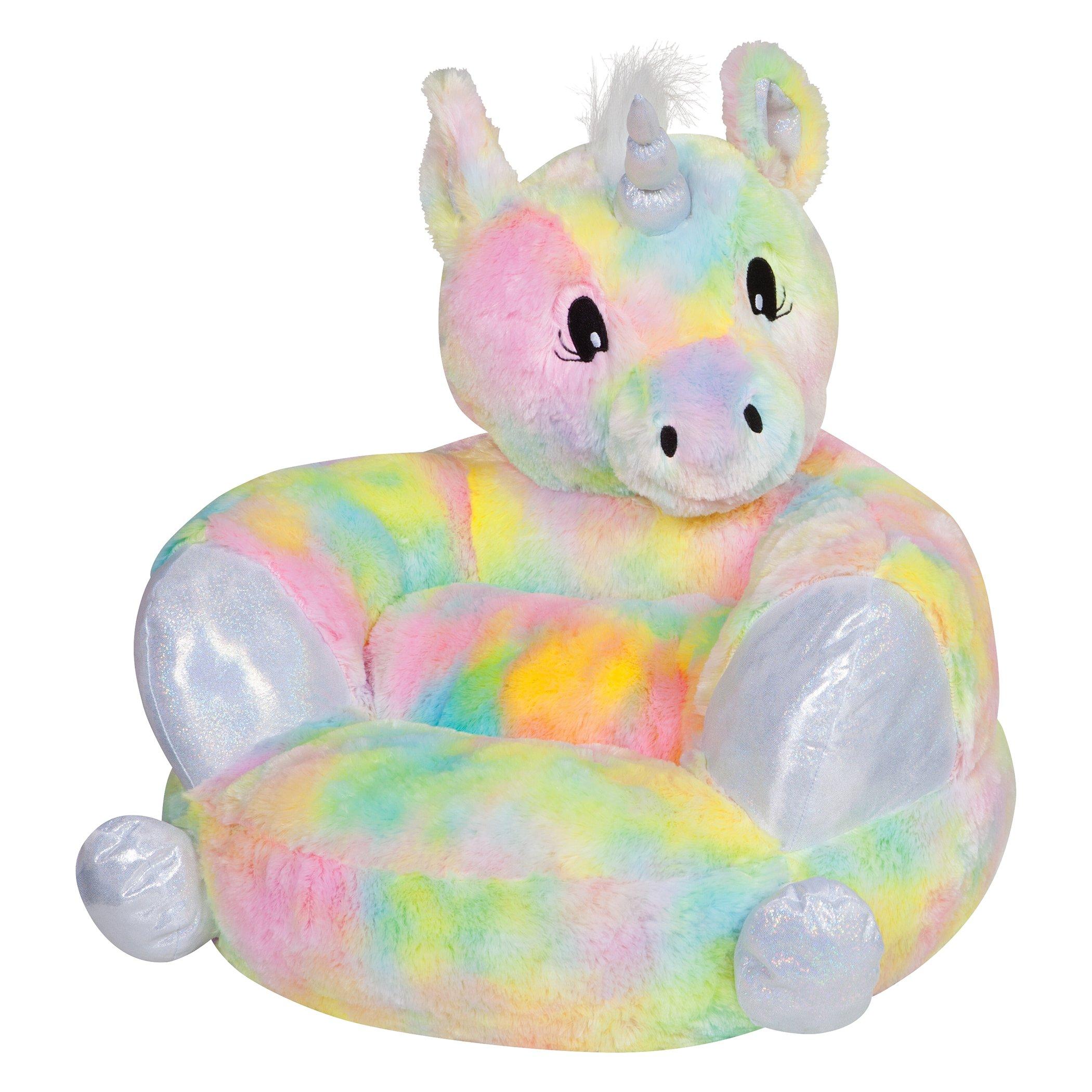 Trend Lab Kids Plush Character Chair, Rainbow Unicorn