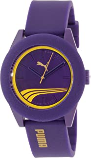 Puma Mens PU103971005 Purple Rubber Quartz Watch