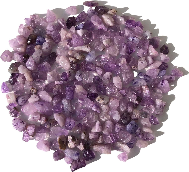 Rhinestone Paradise Aprox. 200 Perlas de Amatista de Piedras Preciosas, Forma Natural, Perlas de Piedra de 15 mm hasta 5 mm
