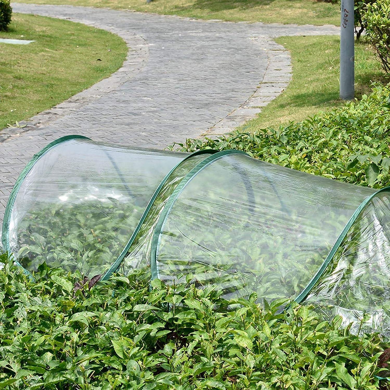 Gew/ächshaus 7 Gew/ölbter Stahrdraht Garten Pflanzentunnel Fr/ühbeet-Schutztunnel Tunnelgew/ächshaus Pflanzbeet Tunnel mit B/ögen 5m transparentes Pe-Tuch Pflanztunnel Pflanzen-Schutz und Anbau