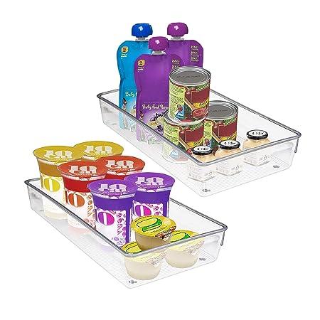 Pack 2 Recipientes Organizar Refrigerador Plástico Acrílico ...
