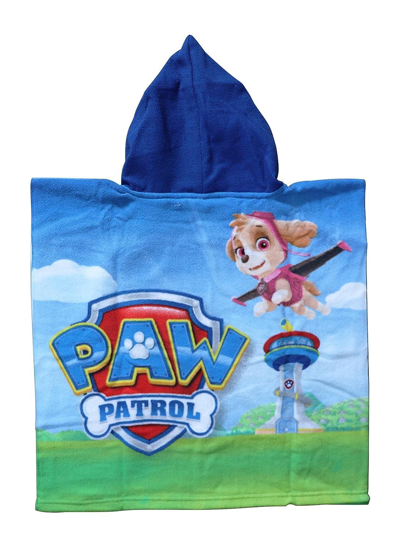 50x100 cm toalla Poncho-toalla infantil microfibra con capucha 50x50 cm poncho Ni/ño Patrulla Canina