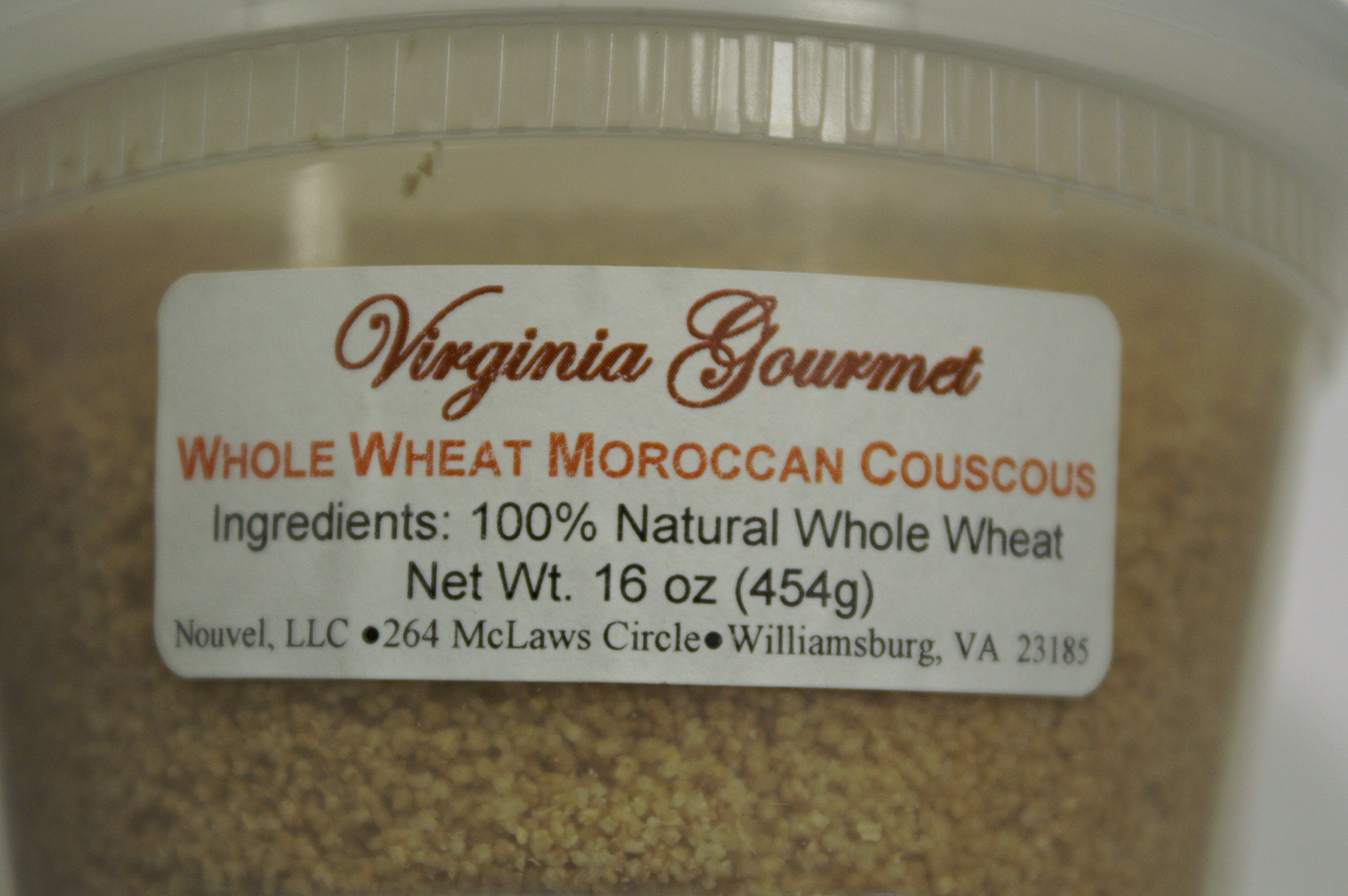 Virginia Gourmet Moroccan Couscous - 100% All Natural Semolina Durum Wheat- Authentic Moroccan Couscous-Cooks in 5 minutes (2Pack-10 oz each package)
