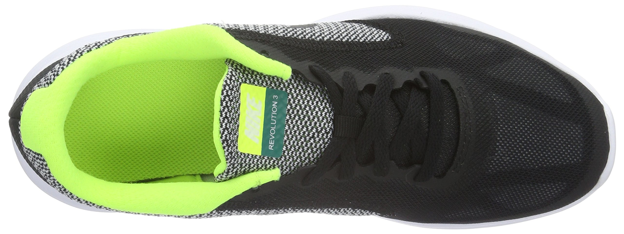 Nike Boys' Revolution 3 (GS) Running Shoe Black/White/Volt, 4.5 M US Big Kid by Nike (Image #7)