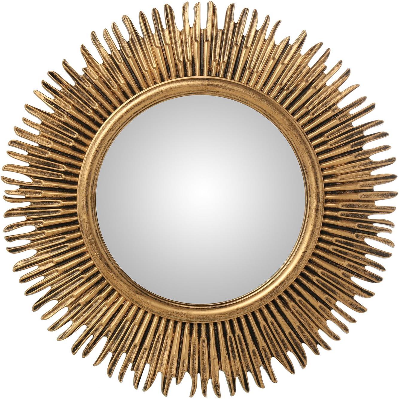 Espejo de resina con forma de sol